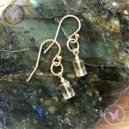 Citrine Gold Hoop Earrings